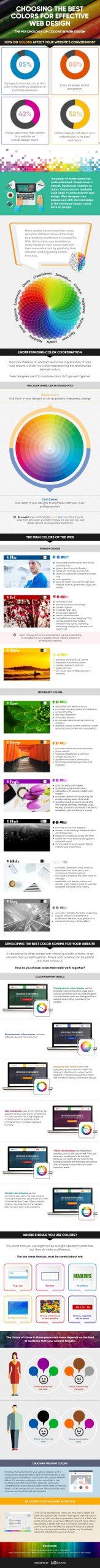 The Psychology of Color on Website Design Infographic compressed