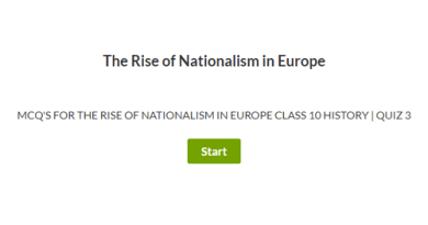 MCQ's for The Rise of Nationalism in Europe Class 10 History | Quiz 3