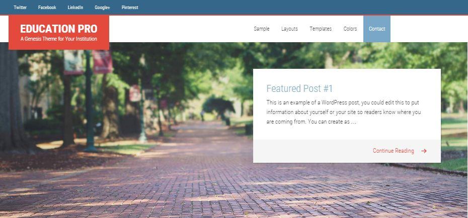 Education Pro WordPress Education Themes