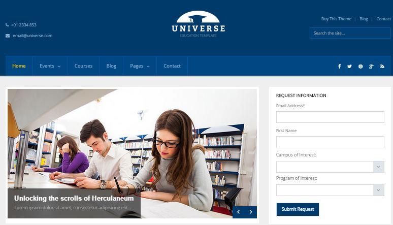 Universe WordPress Education Themes