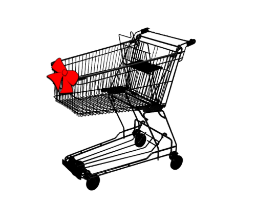 shoppingcart with bow