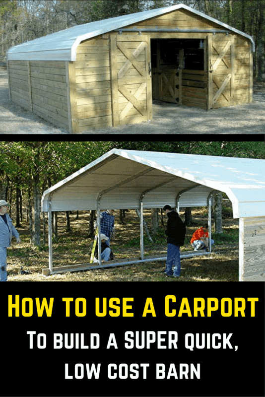 Turn A Simple Carport Into An Awesome Barn