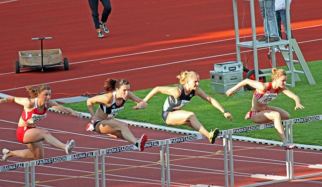 Sprint Hurdles Athlete