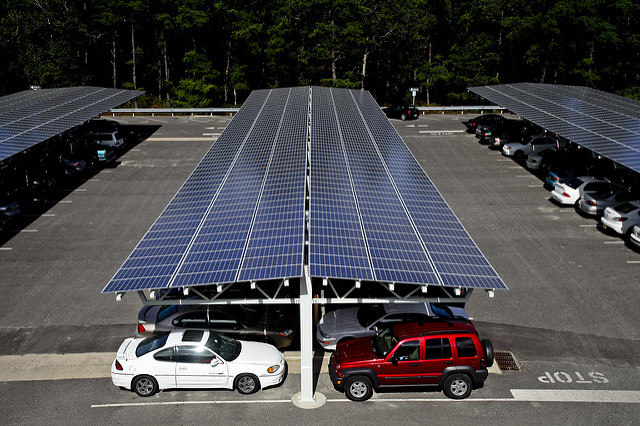 Solar Parking Lots Can Charge Electric Vehicles
