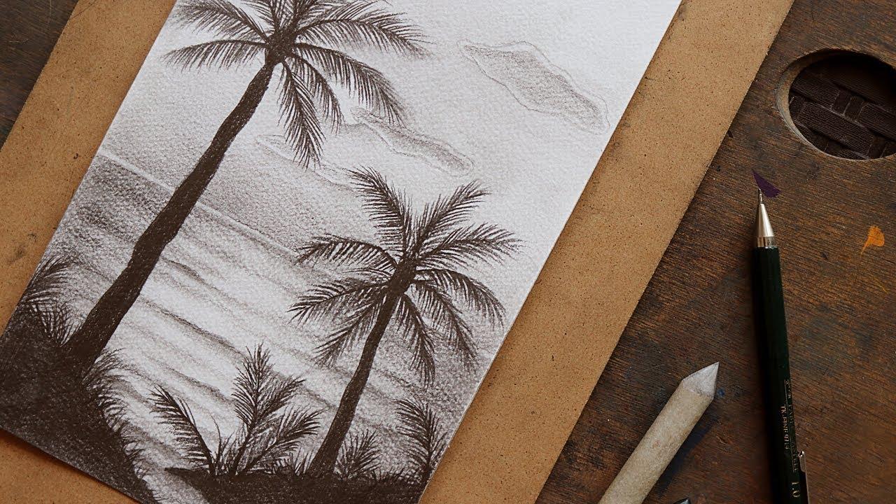 رسم طبيعة بالرصاص اجمل الرسومات بالرصاص للمناظر الطبيعية