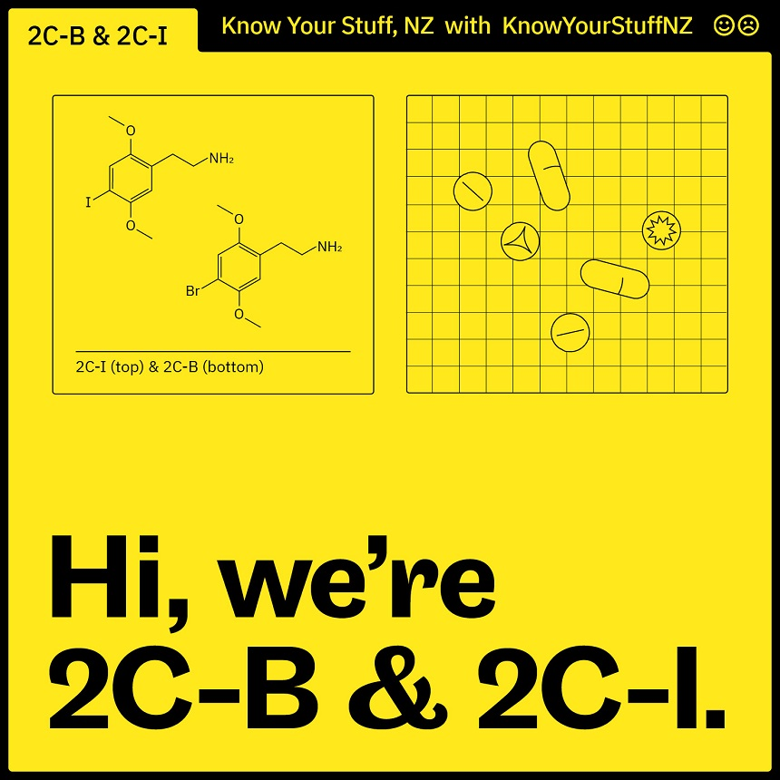 Image, chemical structures of 2C-B and 2C-I