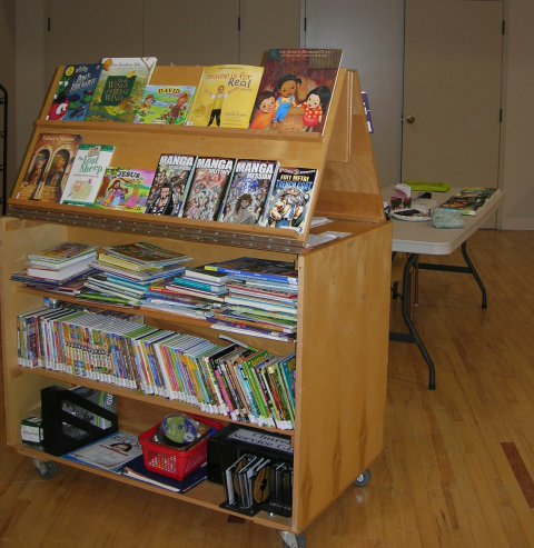 Library Cart in Metcalf Hall