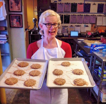 Owner Peggy Hambright with Oatmeal Cookies