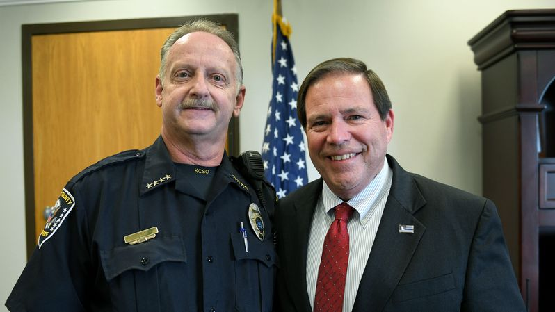 Sheriff and Chief deputy smiling