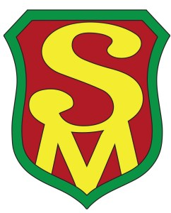 Green, red, yellow safetyman emblem