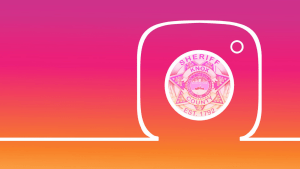 Instagram logo with KCSO badge