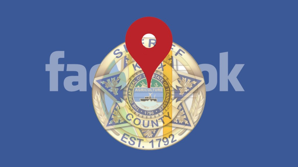 Facebook logo with KCSO badge