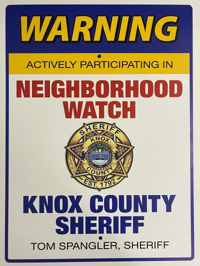 KCSO Neighborhood Watch Sign