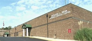 Front entrance to Richard L. Bean Juvenile Center