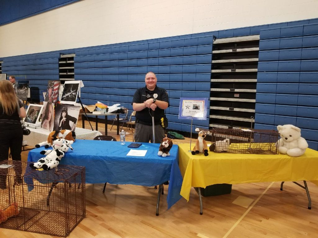 Animal Control officer at exhibition table