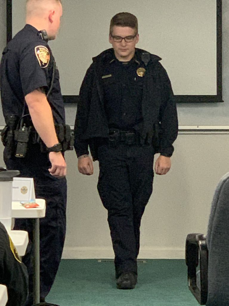 Recruit learning the Standardized Field Sobriety Tests