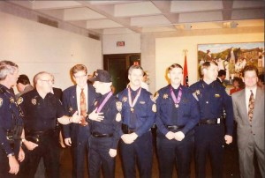 Deputies receiving medals