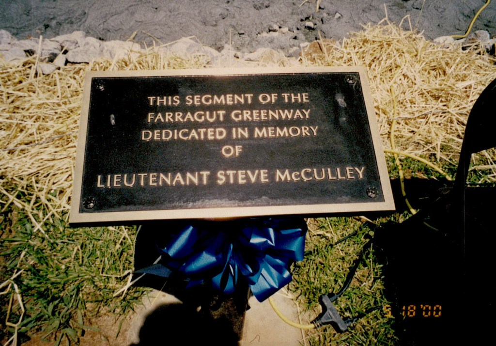 LT. McCulley memory plaque