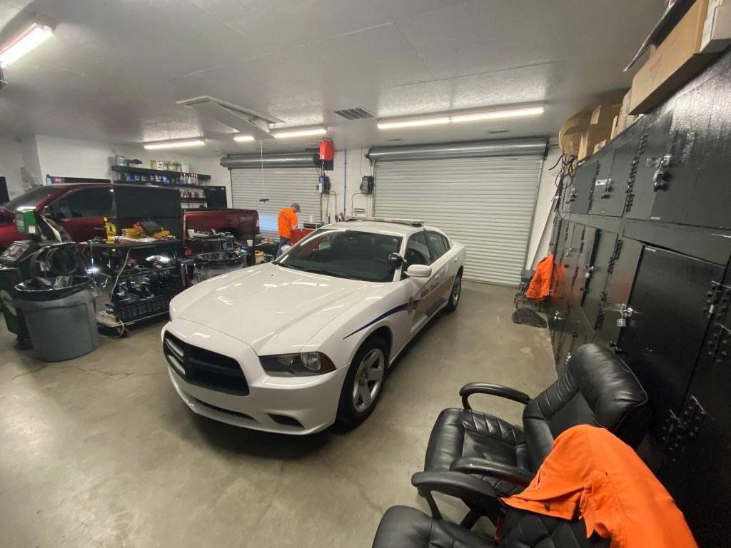KCSO cruiser in FLEET garage