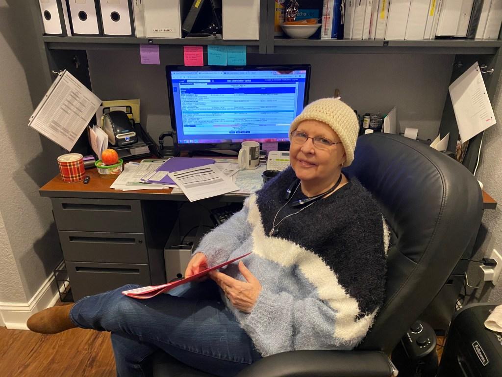 FLEET staff member at her desk