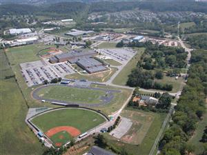 Aerial shot of Karns