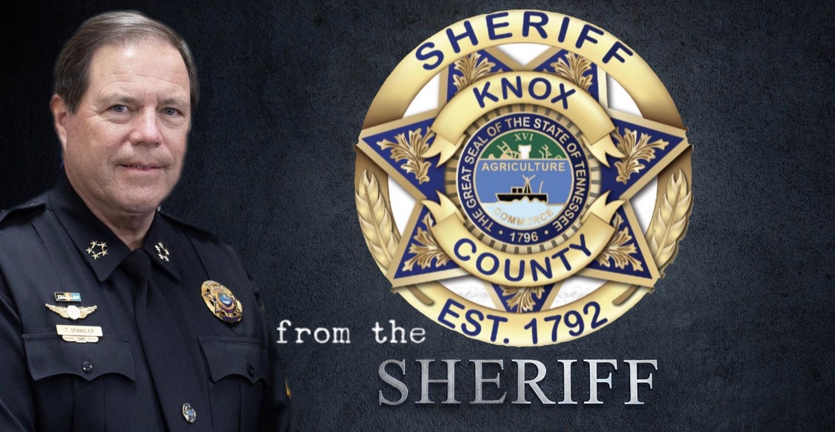 Sheriff, KCSO badge, over black background