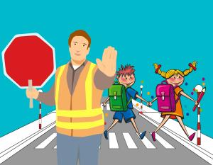 cartoon, school, road