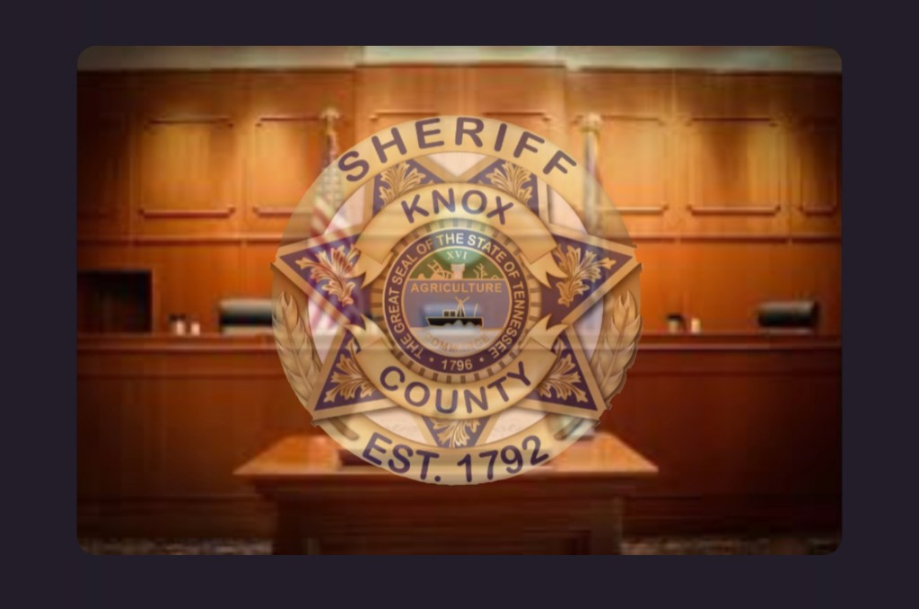 Courtroom with KCSO Badge overlay