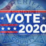 """KCSO badge with """"VOTE 2020"""""""