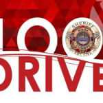 """""""Blood Drive"""" with KCSO badge"""
