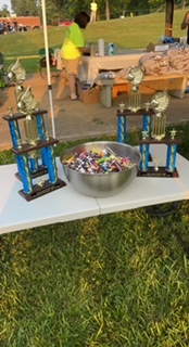 Mud volleyball trophies