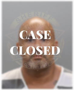 "Rivera Mugshot with ""Case Closed"""