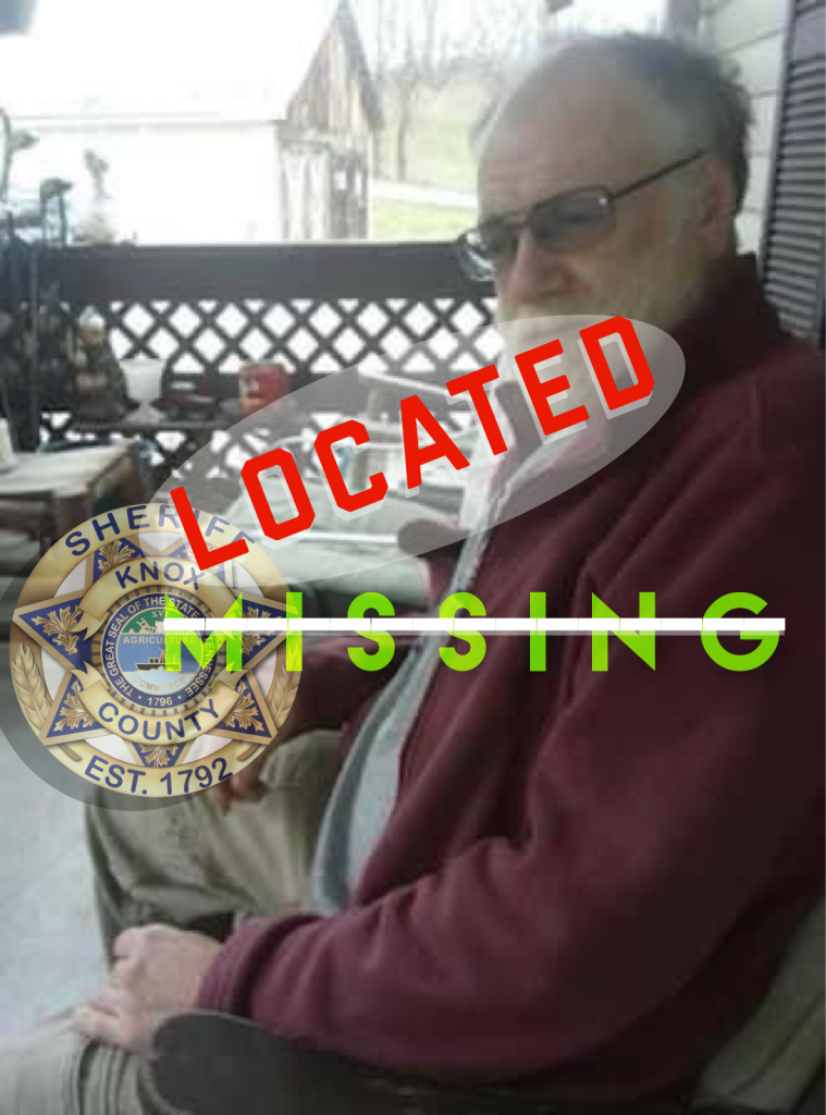 """Elderly white male with KCSO badge and """"Located"""""""