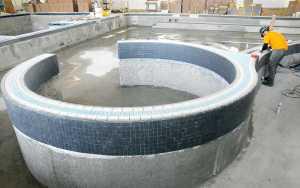 Buchtal 55735 on Radius Pool Tile