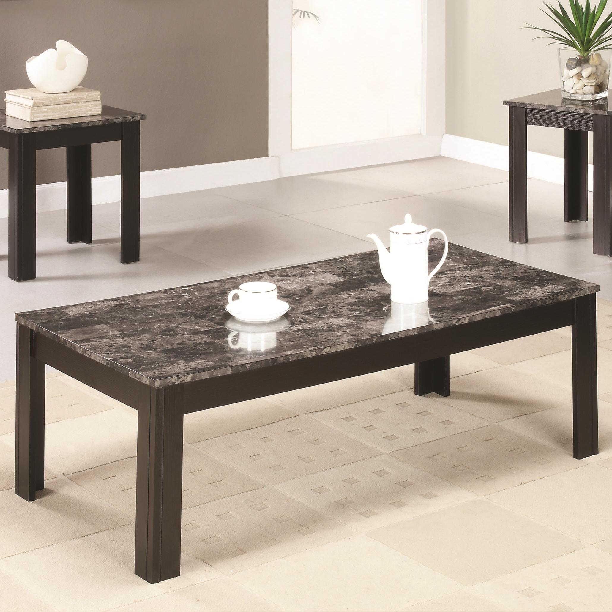 Marble Top Coffee And End Table Set Knox Furniture Direct