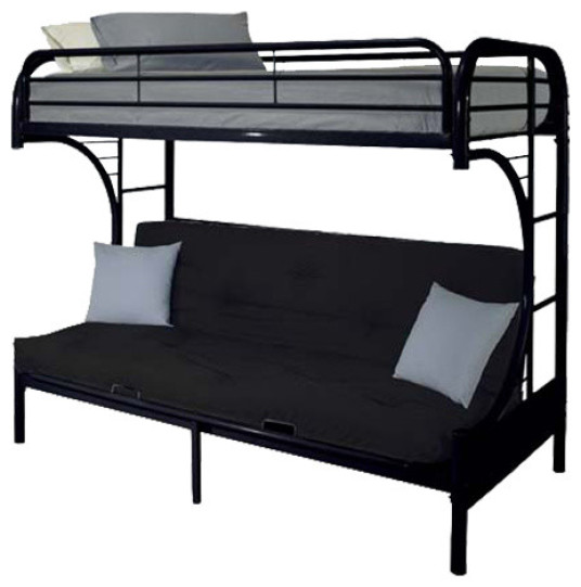 Black Twin Over Futon Bunk Bed Knox Furniture Direct