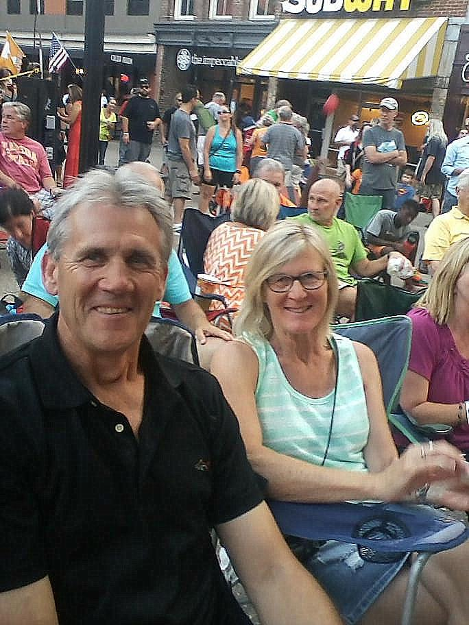 Graham & Debbie Blackley at a Market Square concert.