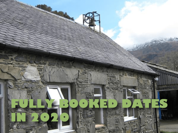 We're already getting busy in 2020!  Fully booked dates listed here.
