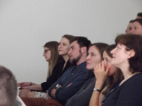 Zasłuchani...od lewej: Patrycja Kaczmarska, Beata Schoenradt, Cezary Bahyrycz, Olga Antowska-Gorączniak, Magdalena Żerek, Lucyna Leśniak