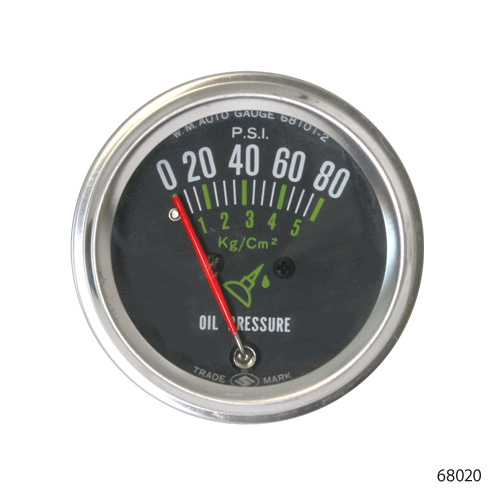 PSI oil pressure gauge