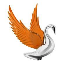 Chrome Swan Bugler Hood Ornament | 48096