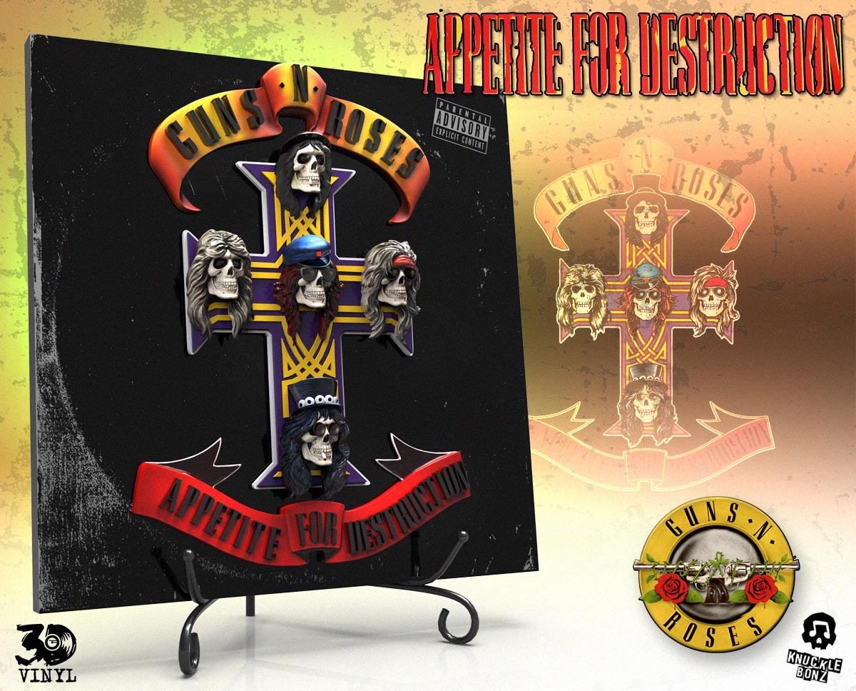 rz Guns /'N/' Roses Appetite For Destruction sew on cloth patch 100mm x 75mm