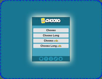 Ansicht des Startmenüs von Chooso