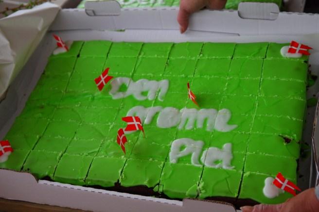 Kagen var naturligvis grøn :-)