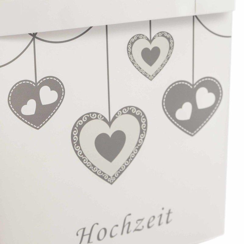 50 Briefumschlage Motiv Rote Herzen Liebe Hochzeit Love Din Lang