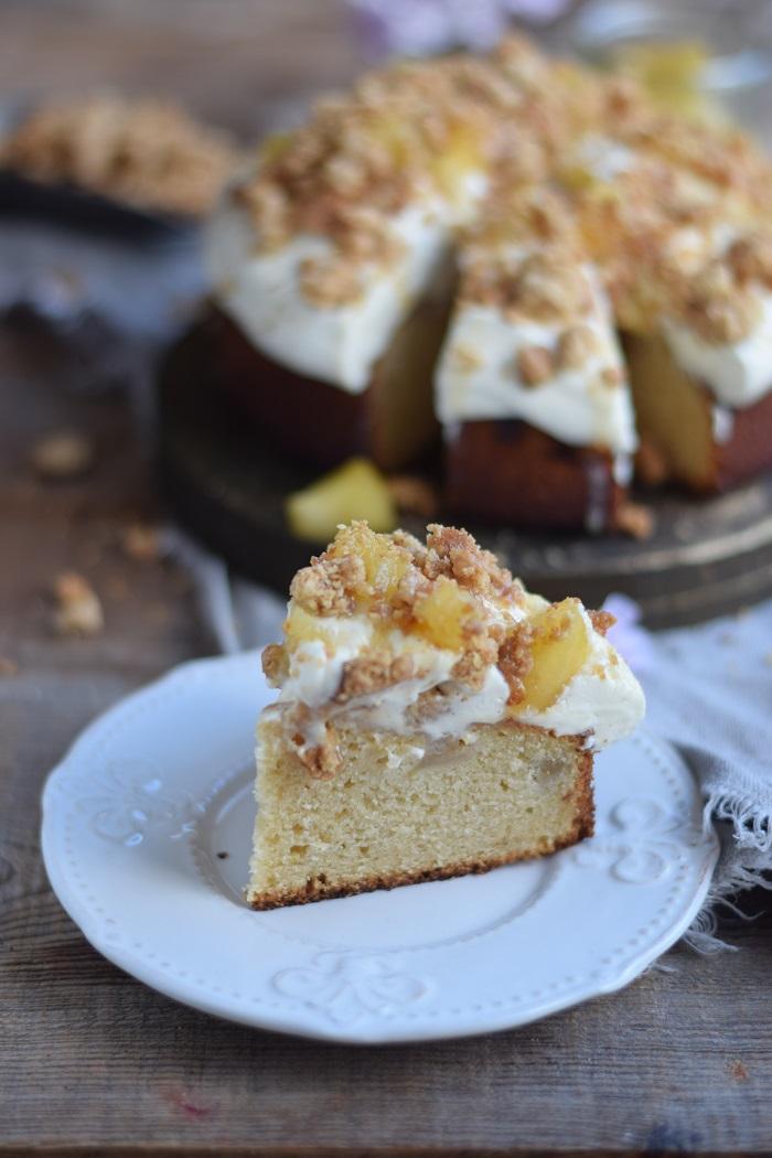 Knuspriger Apfel-Crumble-Kuchen mit Vanille 13