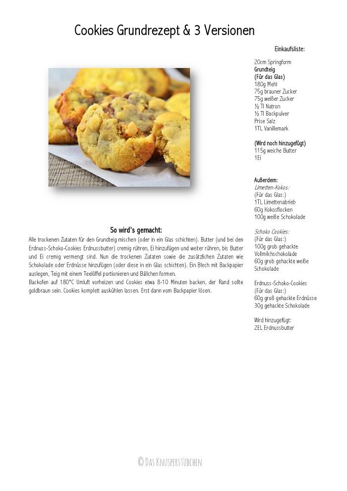 Cookies Grundrezept & 3 Versionen-001