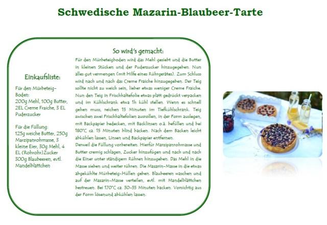 Schwedische Mazarin-Blaubeer-Tarte