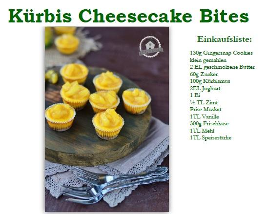 Rezept Cheesecake Bites