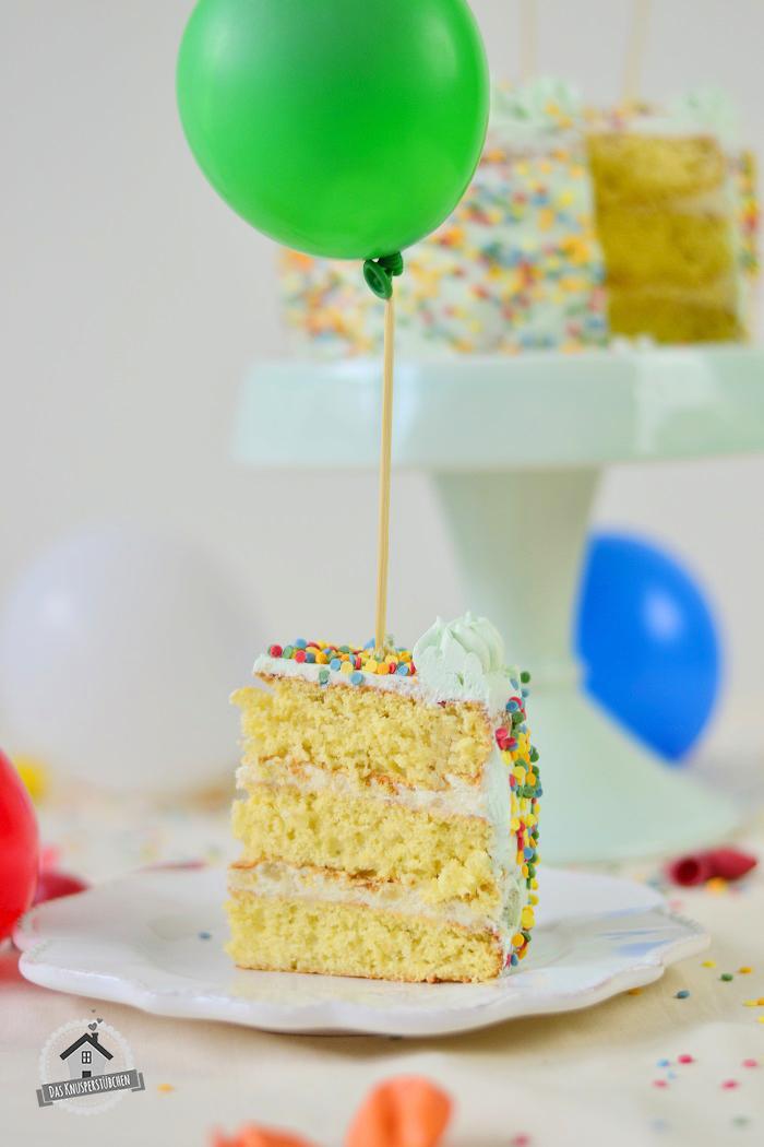 Marzipan Geburtstagstorte Luftballons 11